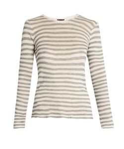ATM | Distressed Long-Sleeved Striped T-Shirt
