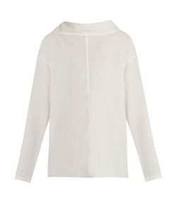 Y'S BY YOHJI YAMAMOTO   Reversible Ruffled Cotton-Lawn Shirt