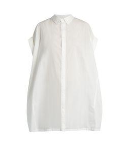 Y'S BY YOHJI YAMAMOTO   Oversized Short-Sleeved Cotton Shirt