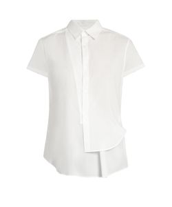 Y'S BY YOHJI YAMAMOTO | Asymmetric Short-Sleeved Cotton Shirt