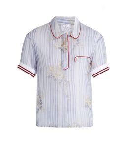 Stella Jean | Striped Silk-Organza Shirt