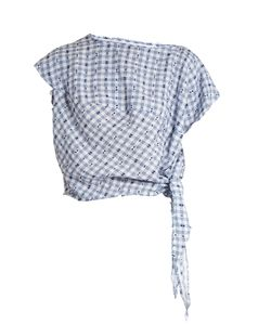 Vivienne Westwood Anglomania | Balloon Short-Sleeved Gingham Blouse