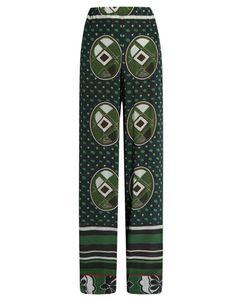 Stella Jean | Graphic-Print Silk Wide-Leg Trousers
