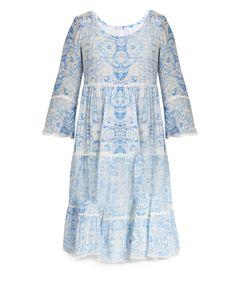 Athena Procopiou   The Midsummers Sky Silk Dress