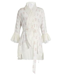 Athena Procopiou | Summer Morning Short Silk Kimono