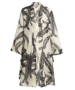 Adriana Degreas | Martinique-Print Silk Crepe De Chine Cover-Up