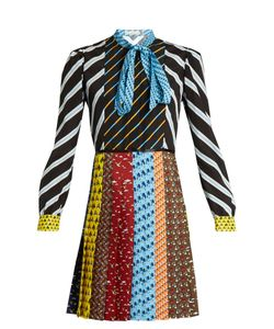 Mary Katrantzou | Knight Tie-Neck Graphic-Print Dress
