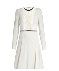Giambattista Valli | Lace-Panelled Long-Sleeved Cady Dress
