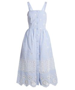 Sea | Exploded Eyelet Button-Front Cotton Dress