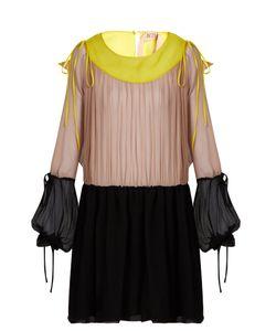 No. 21 | Tri-Colour Silk-Crepon Dress