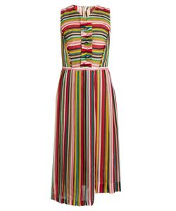 No. 21 | Striped Sleeveless Silk-Chiffon Dress