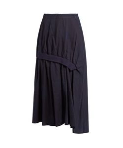 Y'S BY YOHJI YAMAMOTO | Distressed-Dot Gathered Cotton Skirt
