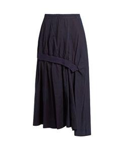 Y'S BY YOHJI YAMAMOTO   Distressed-Dot Gathered Cotton Skirt
