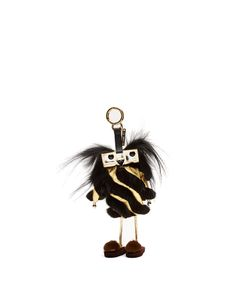 Fendi | Power-Bank Witches Fur And Leather Bag Charm
