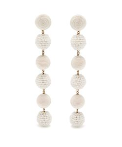 Rebecca De Ravenel | Bonbon Silk And Bead Drop Earrings