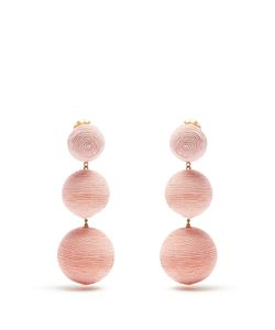 Rebecca De Ravenel | Bonbon Silk Drop Clip-On Earrings