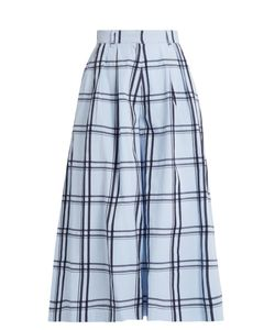 House Of Holland | Checked Cotton Wide-Leg Culottes