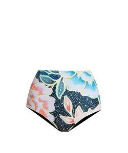 Mara Hoffman   Arcadia Indigo-Print High-Rise Bikini Briefs