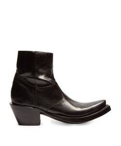 VETEMENTS | X Lucchese Leather Ankle Boots