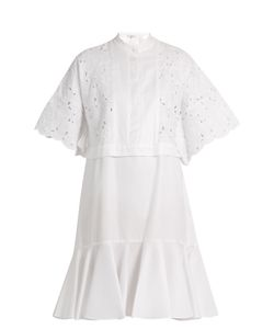 Erdem | Kathy Half-Placket Broderie-Anglaise Dress