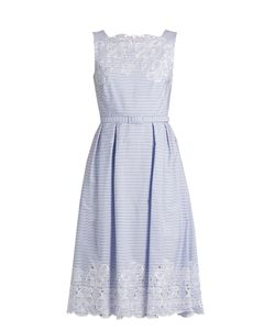 Erdem | Mara Broderie-Anglaise Striped-Cotton Dress