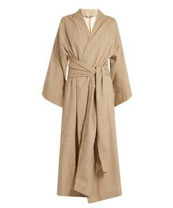 THREE GRACES LONDON   Isabella Striped-Cotton Robe
