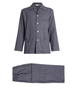 Derek Rose | Braemar Checked Brushed-Cotton Pyjama Set