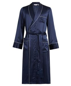 Derek Rose | Bailey Silk-Satin Bathrobe