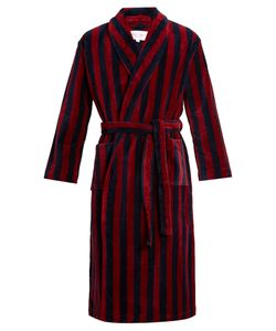 Derek Rose | Striped Towelling Bathrobe