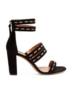 Alexa Wagner | Betsy Block-Heel Suede Sandals