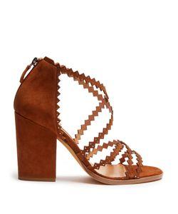 Alexa Wagner | Garda Block-Heel Suede Sandals