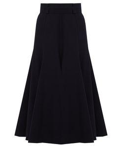 Gabriela Hearst   Spencer Flared Wool-Blend Skirt