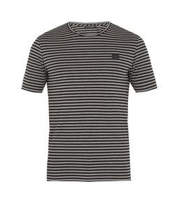 Acne | Napa Face Striped Cotton T-Shirt