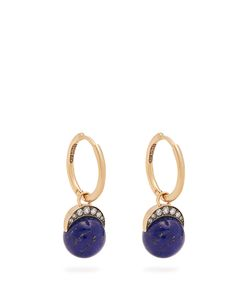 Noor Fares | Diamond Lapis Earrings