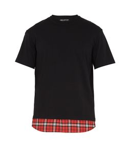 Neil Barrett | Tartan-Panel Cotton T-Shirt