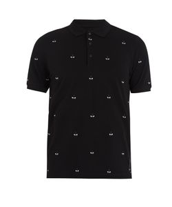 Fendi | Bag Bugs-Embroidered Cotton-Piqué Polo Shirt
