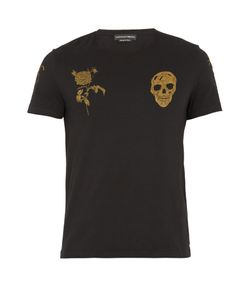 Alexander McQueen | Skull And Rose-Print Cotton-Jersey T-Shirt