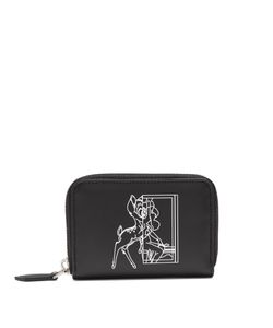 Givenchy | Bambicopy-Print Zip-Around Leather Cardholder