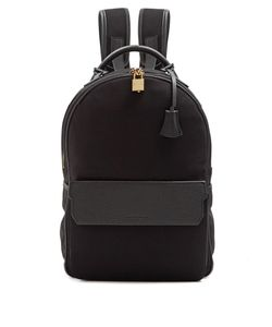 Buscemi | Leather-Trimmed Neoprene Backpack