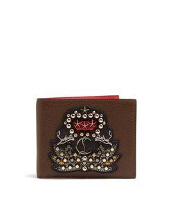 Christian Louboutin | Kaspero Embellished Bi-Fold Leather Wallet