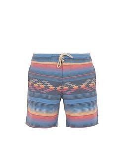 Faherty   Geometric Striped-Print Shorts