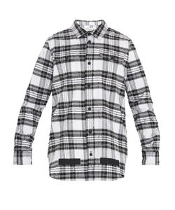 OFF-WHITE | Distressed Checked Cotton Shirt