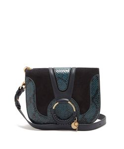 See By Chloe | Hana Small Suede And Leather Cross-Body Bag