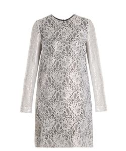 MSGM | Coated-Lace Mini Dress