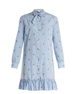 Gucci | Bunny Fil Coupé Striped Cotton-Poplin Dress