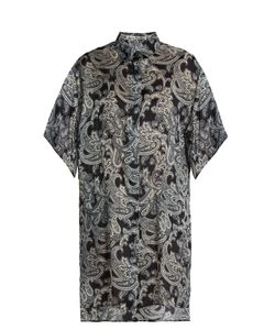 Acne | Debrah Paisley-Print Step-Hem Shirtdress