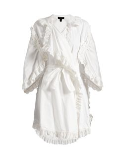 Burberry | Ruffled Broderie-Anglaise Cotton Wrap Dress