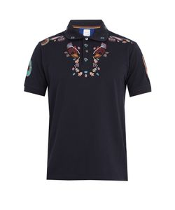 Paul Smith | -Embroidered Cotton Polo Shirt