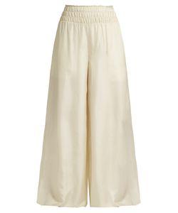 Elizabeth And James   Elton Wide-Leg Silk-Satin Trousers