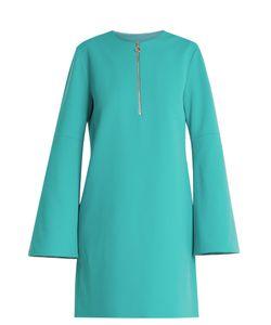 Tibi   Zip-Front Crepe Mini Dress